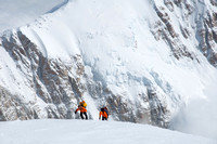 Climbers approaching the summit of Denali